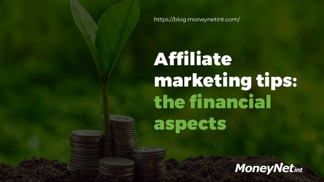Affiliate marketing tips: the financial aspects header