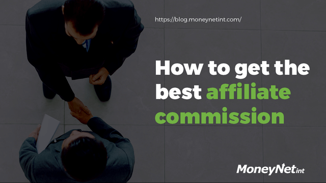 How to get the best affiliate commission header